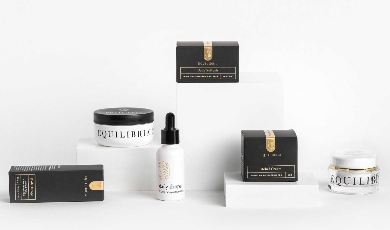 Brilliance Box Best-Seller Three full-spectrum CBD oil products
