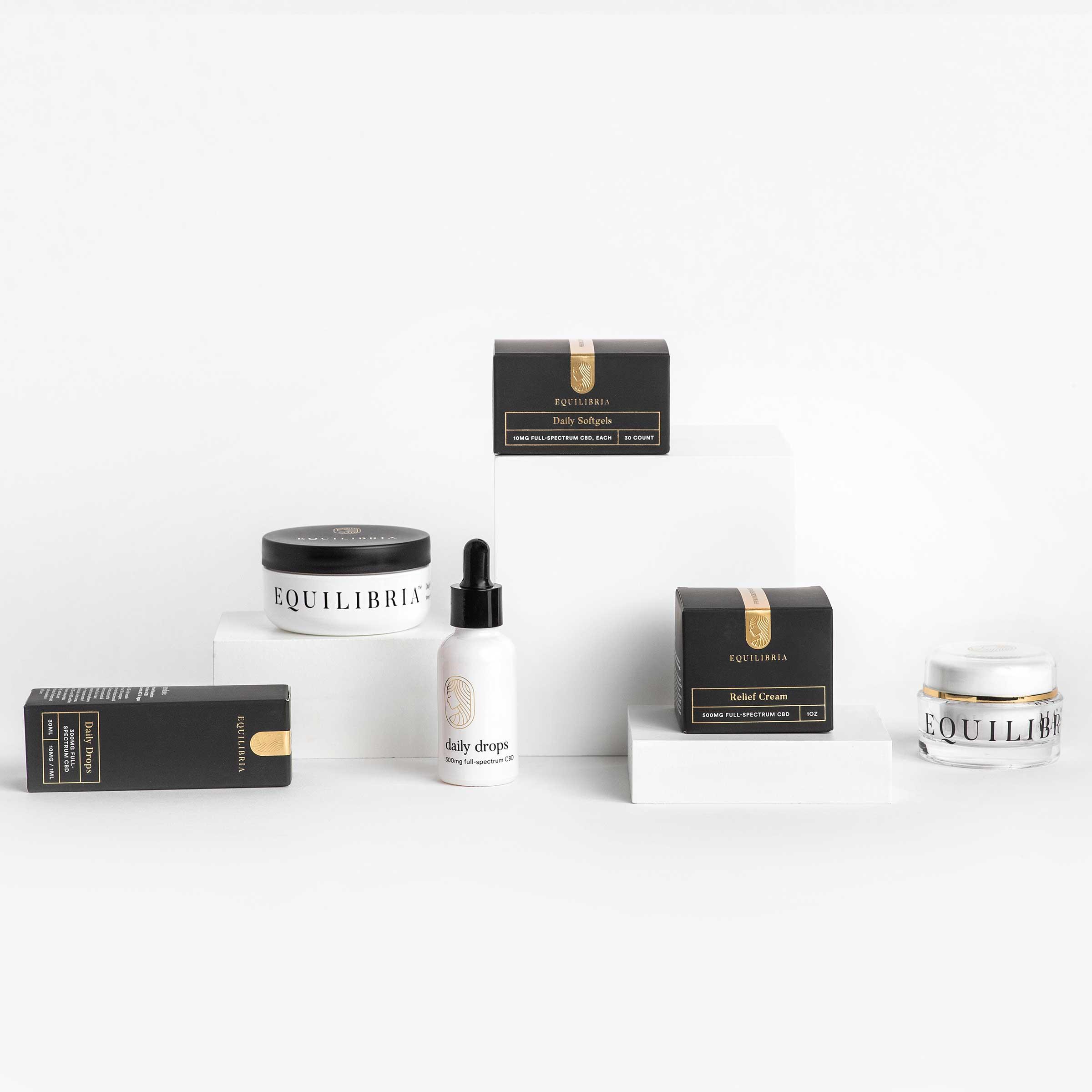 Brilliance Box Best-Seller Three full-spectrum CBD oil products