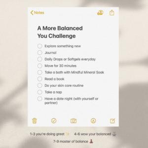 """A More Balanced You"" quiz"